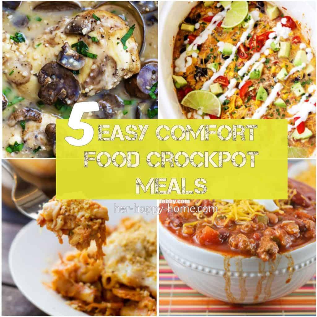 5 Easy Comfort Food Crockpot Meals