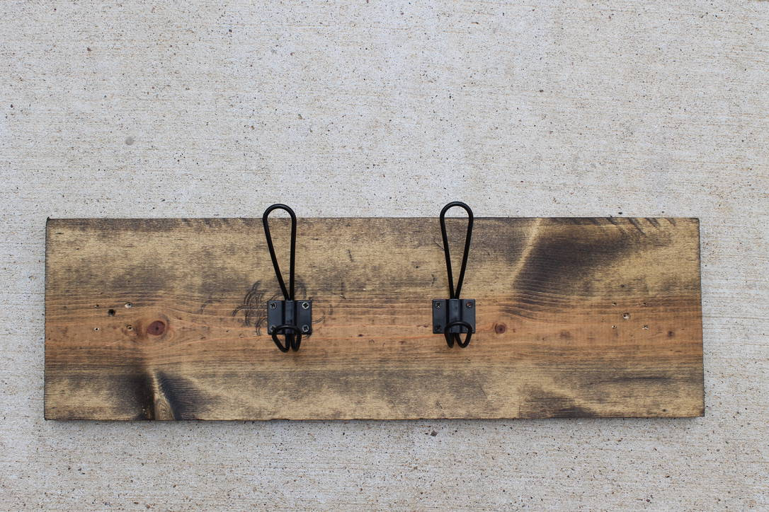 Farmhouse Style Diy Towel Rack Using Scrap Wood Her Happy Home